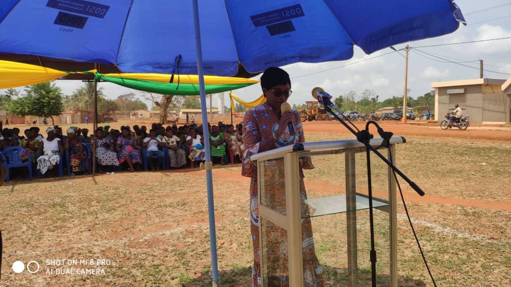 The Mayor Ayawavi Aziadekey during her remark