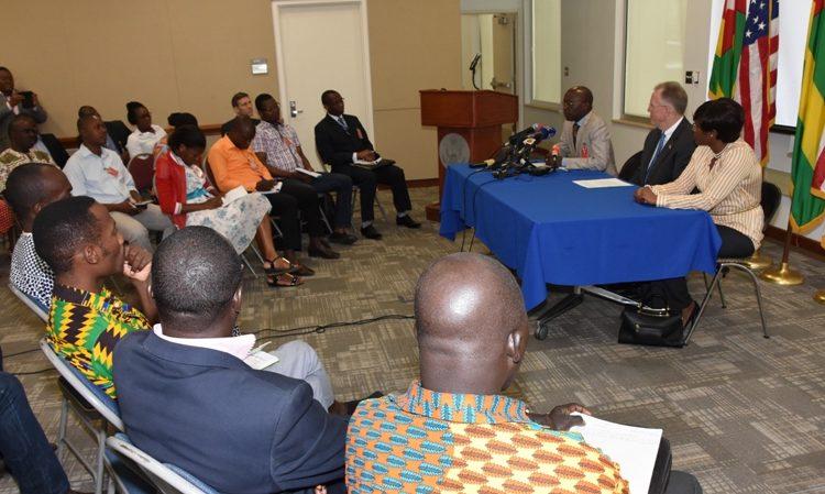 Togo MCC coordinator Mr Baba giving speech
