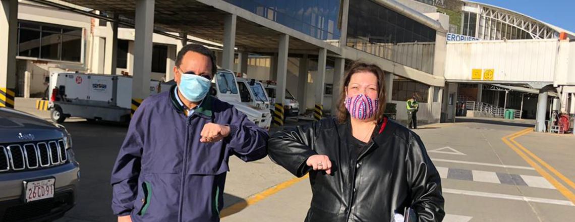 La Encargada de Negocios Charisse Phillips llega a Bolivia
