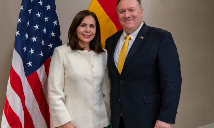 Secretary Pompeo and Foreign Minister Longaric