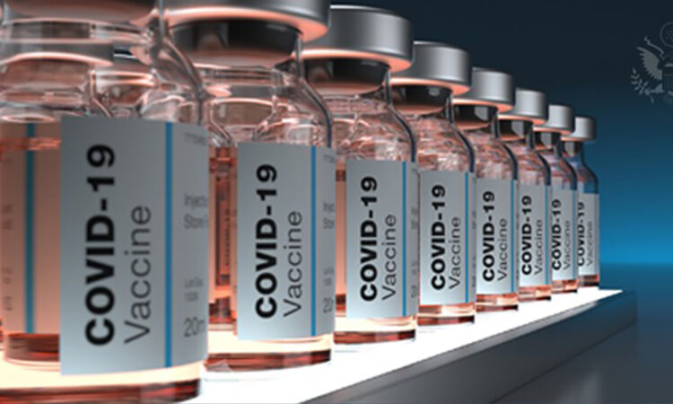 Row of vaccines