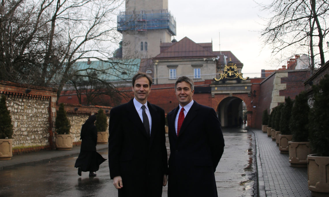 Ambassador Paul Jones and Consul General Walter Braunohler at Jasna Góra.
