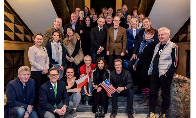 "Embassy Officials Join Cast, Director, Playwright of ""Polish Fantasy"" after English Premiere at Ateneum Theater (Photo: Ateneum Theater)"