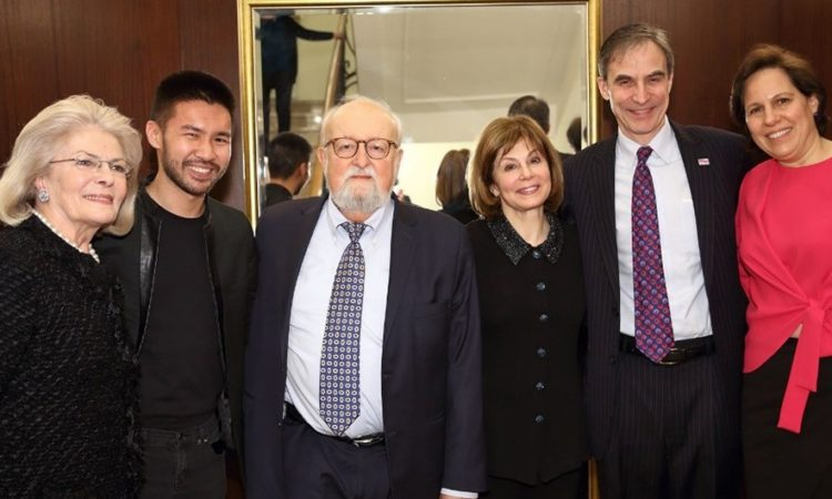 Ambassador and Mrs. Jones with Polish Composer Krzystof Penderecki, Beethoven Easter Festival Organizer Elżbieta Penderecka, Conductor JoAnn Falletta and Pianist Konrad Tao. (Photo credit: Bruno Fidrych, Beethoven Festival www.brunofidrych.com)