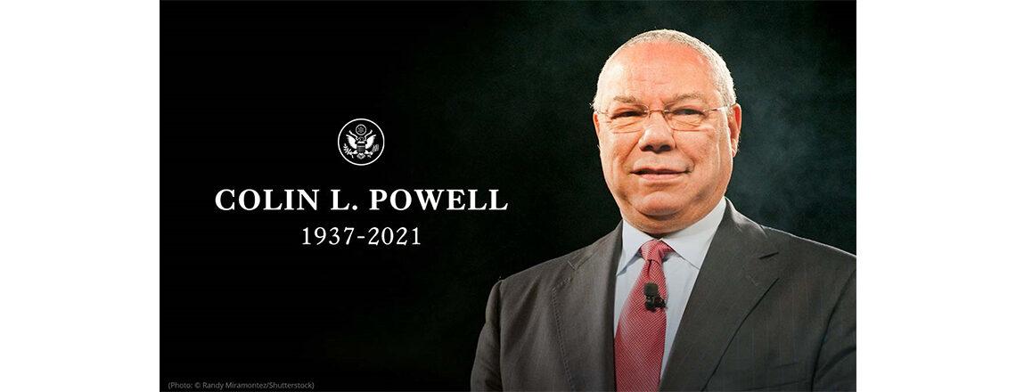 """Thank you, Mr. Secretary"" — Honoring Secretary Colin Powell"