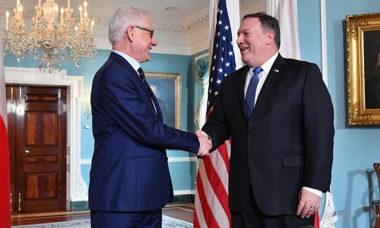 Secretary Pompeo Meets With Polish Foreign Minister Czaputowicz