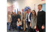 Cultural Attaché Dan Hastings with students from the University of Wroclaw