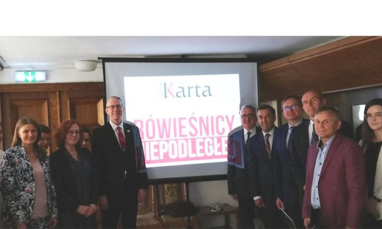 Cultural Affairs Officer Dan Hastings with Members of Poland's Parliamentary Group for Polish-US Relations