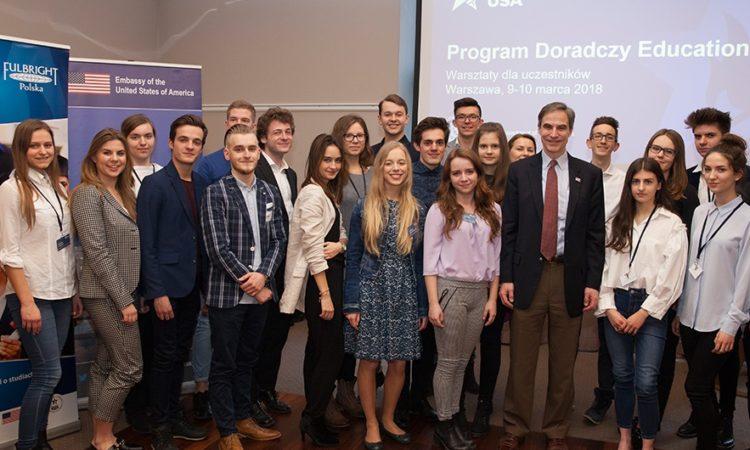 Ambassador Jones kicks off 2nd Edition of EducationUSA Advisory Program in Warsaw