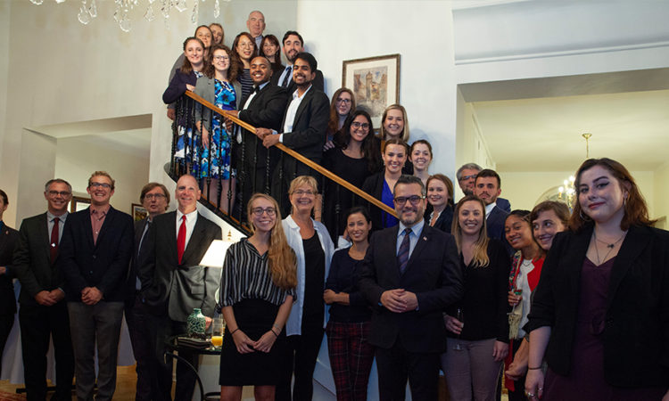 Deputy Chief of Mission hosts newly arrived fulbright fellows from the United States