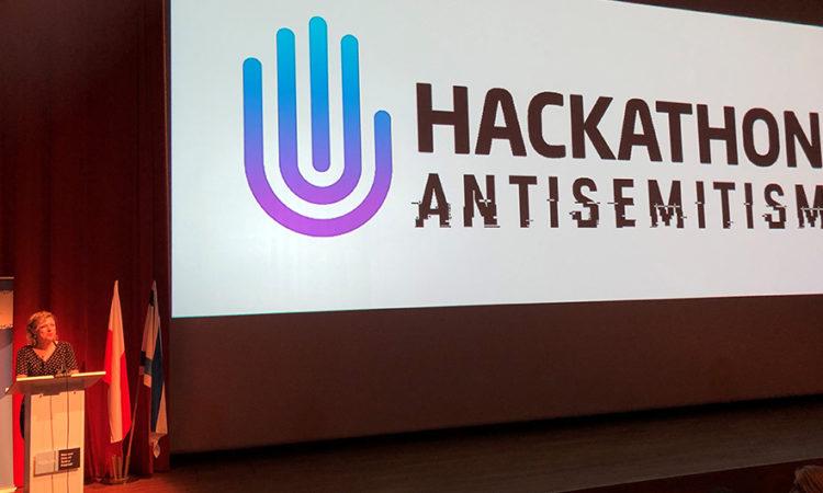 Assistant Cultural Affairs Officer Elizabeth Blumenthal speaks at the hackathon opening.