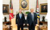 President Donald J. Trump participates in a bilateral meeting with Polish President Andrzej Duda Wednesday, June 24, 2020, in the Oval Office of the White House. (Official White House Photo by Shealah Craighead)