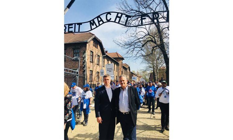 U.S. Consul General Walter Braunohler and Public Affairs Counselor Frank Finver Participate in the 30th March of the Living