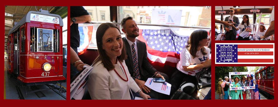 U.S. Consulate Krakow Celebrates its 45th Anniversary via a Tram Experience