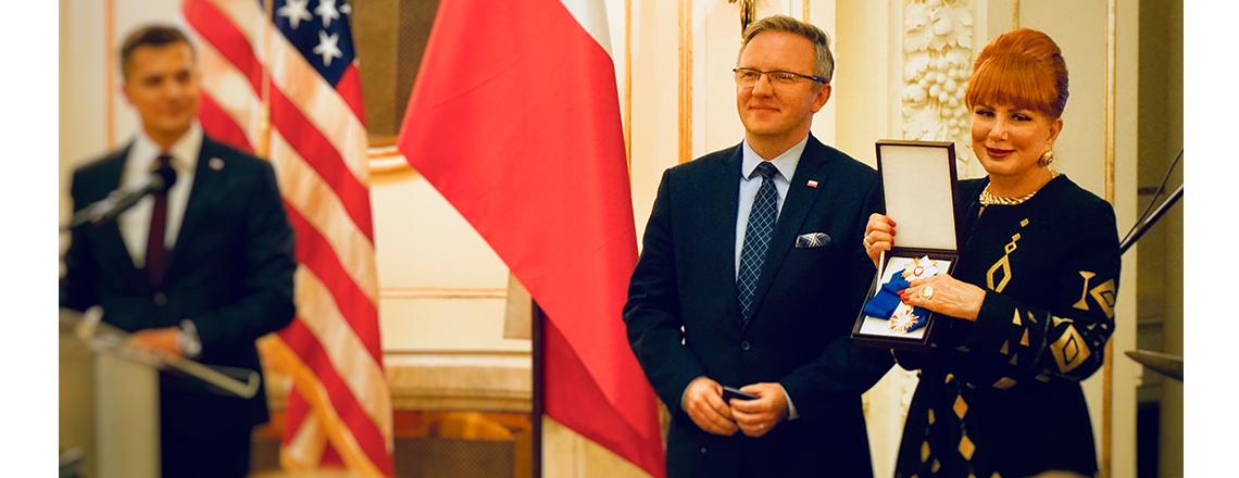 Ambasador Mosbacher gospodarzem uroczystości w historycznym hotelu Polonia Palace