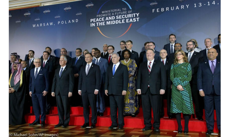 World leaders gathered in Warsaw, Poland, in February for a ministerial meeting on peace and security in the Middle East. (© Michael Sohn/AP Images)