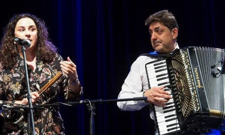 American artists Elizabeth Schwartz and Peter Stan perform the grande finale at the 11th edition of the Zachor Festival of Jewish Culture in Białystok, photo ©Jerzy Doroszkiewicz