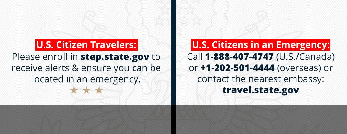 U.S. citizen travelers: Please enroll in STEP!