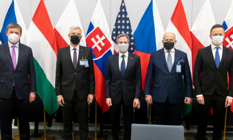 Antony J. Blinken külügyminiszter találkozója a Visegrádi Csoport külügyminisztereivel