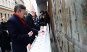 Chargé d'Affaires at Dohány Street Memorial Wall