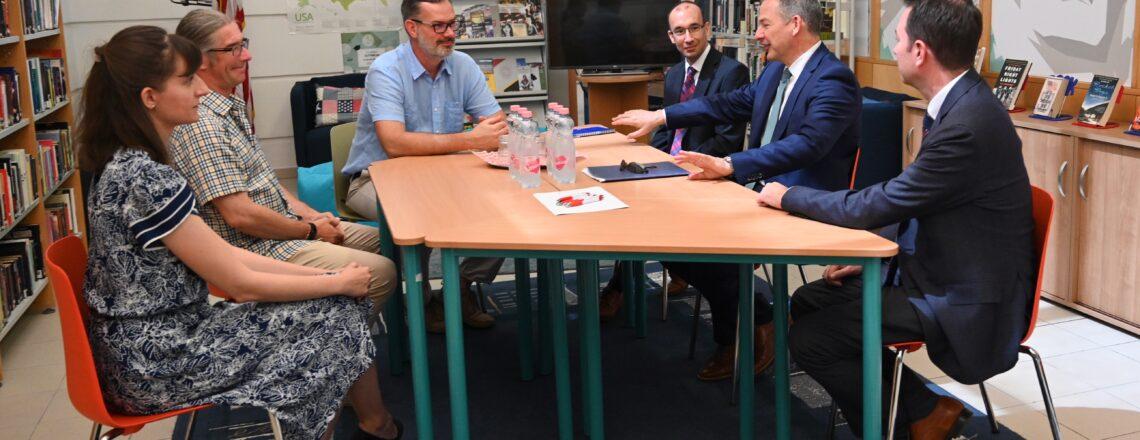 Marc Dillard ügyvivő úr Pécsre illetve Veszprémbe látogatott