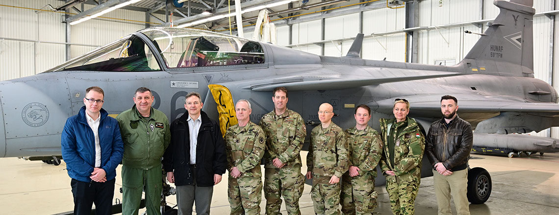 Chargé d'Affaires Marc Dillard and Defense Attaché David Wiseman Visit Air Force Bases