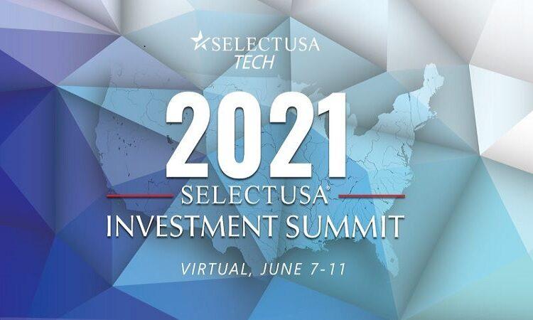 SelectUSA Summit 2021 logó angol nyelvű szöveggel