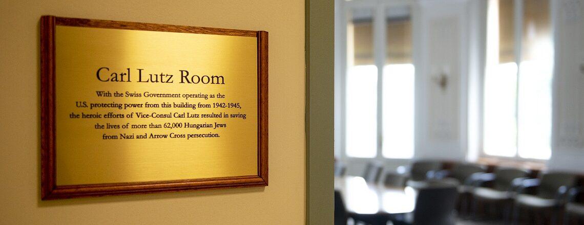 Carl Lutz Room Dedication
