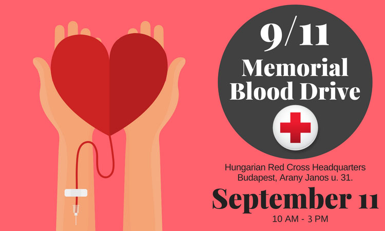 9/11 Memorial Blood Drive, September 11, 10 AM - 3 PM