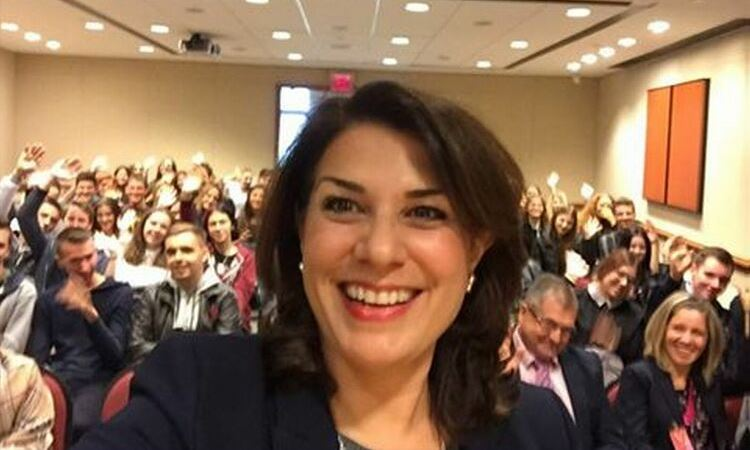 Selfie made by Ambassador and crowd behind her [State Dept.]