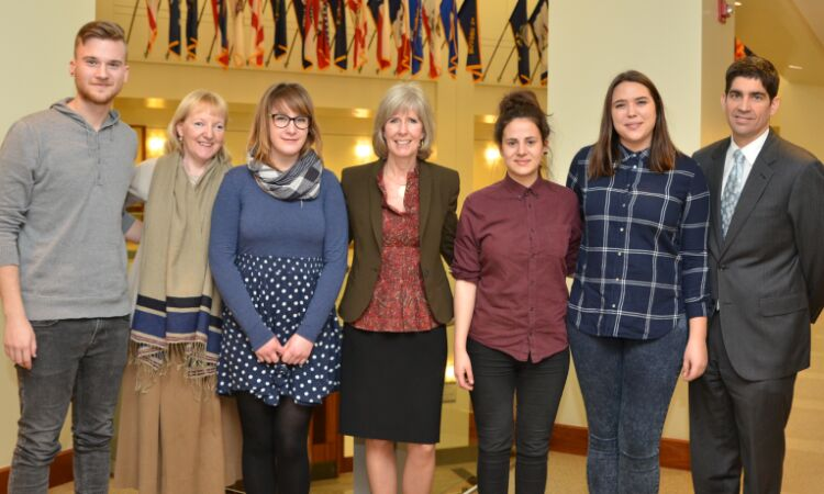 Deputy Chief of Mission Margaret Nardi met with a group of journalism students who will travel to the U.S. [State Dept]