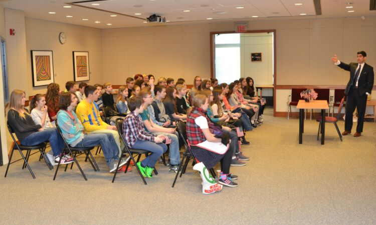 A group of elementary school students from Petrinja visited the Embassy [State Dept.]