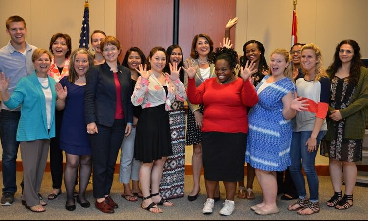 Ambassador Julieta Valls Noyes and other American diplomats met with a group of students from the Indiana University School of Social Work [State Dept.]