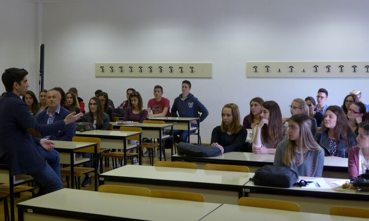 Christian Wright, Public Affairs Officer, met students from the University of Zadar [State Dept.]