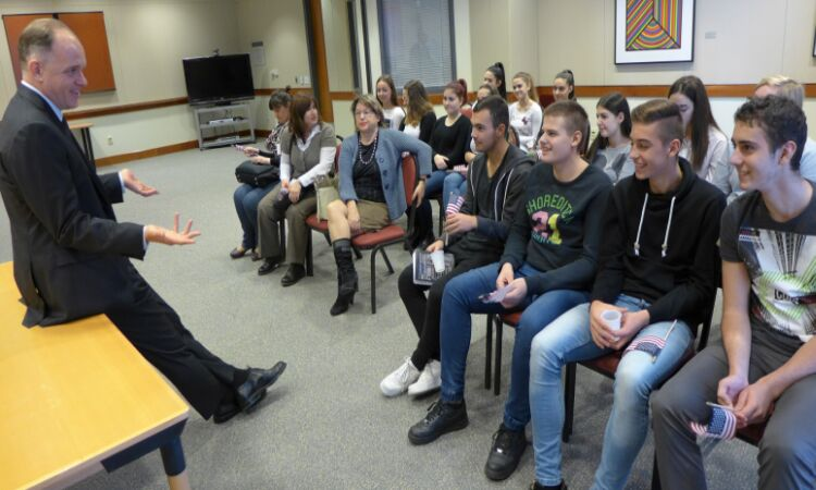The Embassy hosted a group of students and professors from the High School for Nurses [State Dept.]