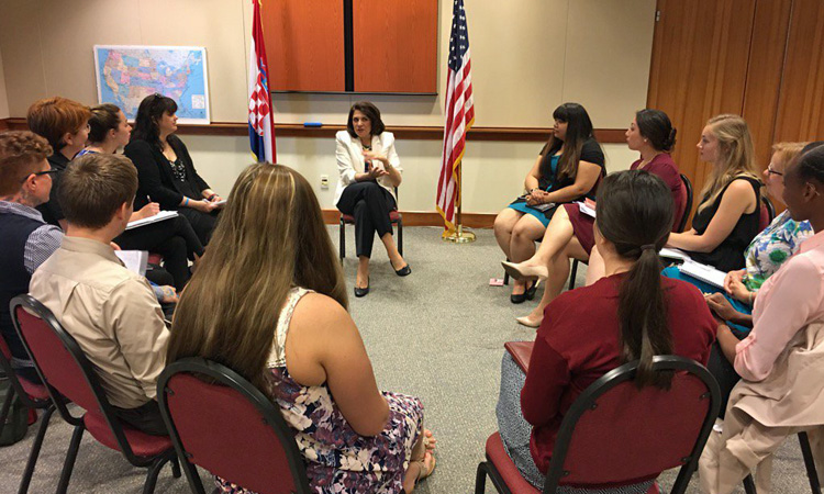 Ambassador Noyes Welcomes Indiana University Students (State Dept.)