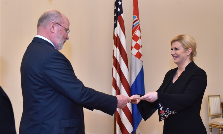 Ambassador Kohorst Presents Credentials (Photo: Office of the President of the Republic of Croatia, Vinko Jovanovac)