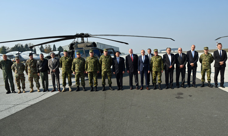 U S Donates 2 New Blackhawk Helicopters U S Embassy In Croatia