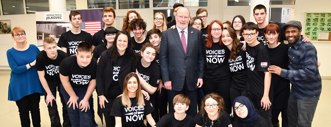 Voices of Now Zagreb Performance at High School Jelkovec