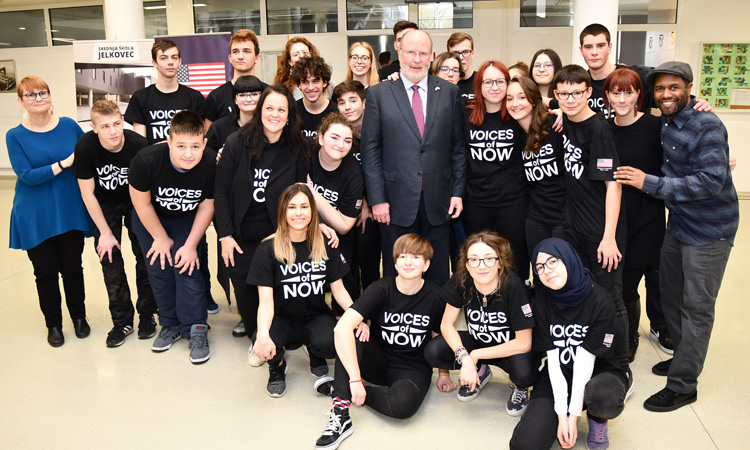 Voices of Now Zagreb Performance at High School Jelkovec (State Dept.)