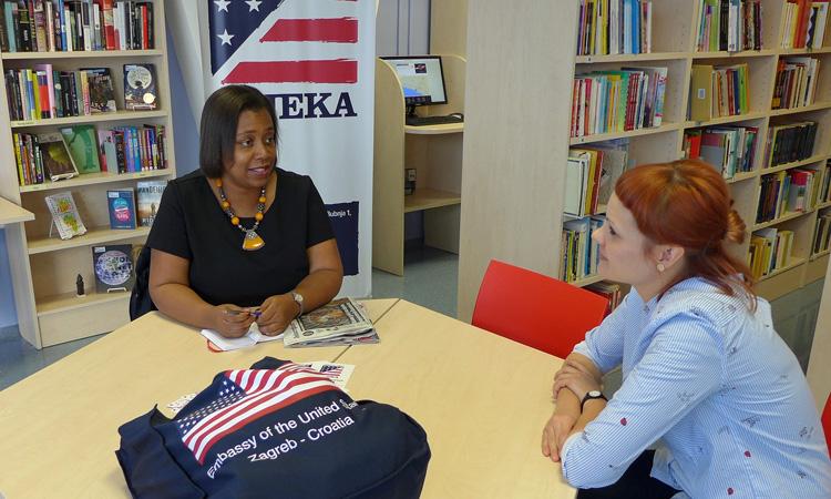 PAO Visits American Corner Rijeka (State Dept.)