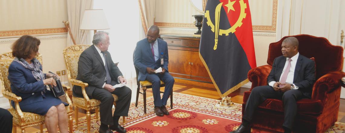 Meeting between Assistant Secretary of State John J. Sullivan and President João Lourenço