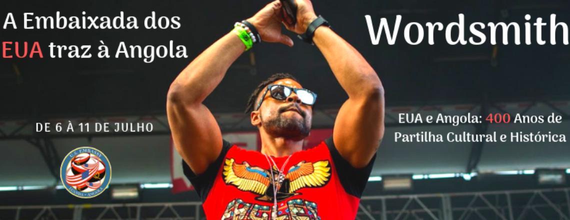 Artista americano Wordsmith vista Angola para marcar os 400 anos de partilha cultural