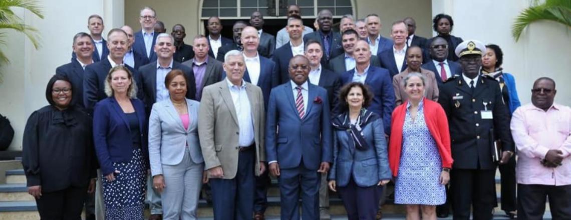 Delegação de Oficiais Superiores do Ministério da Defesa dos EUA em Angola
