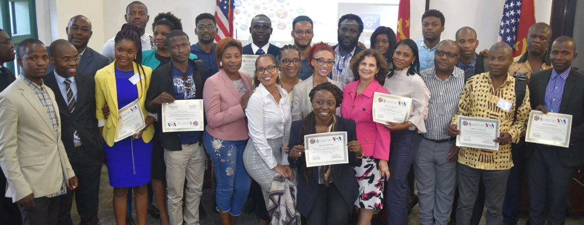 The US Embassy in Angola partnership with VOA completed a series of 3 Workshops on Online