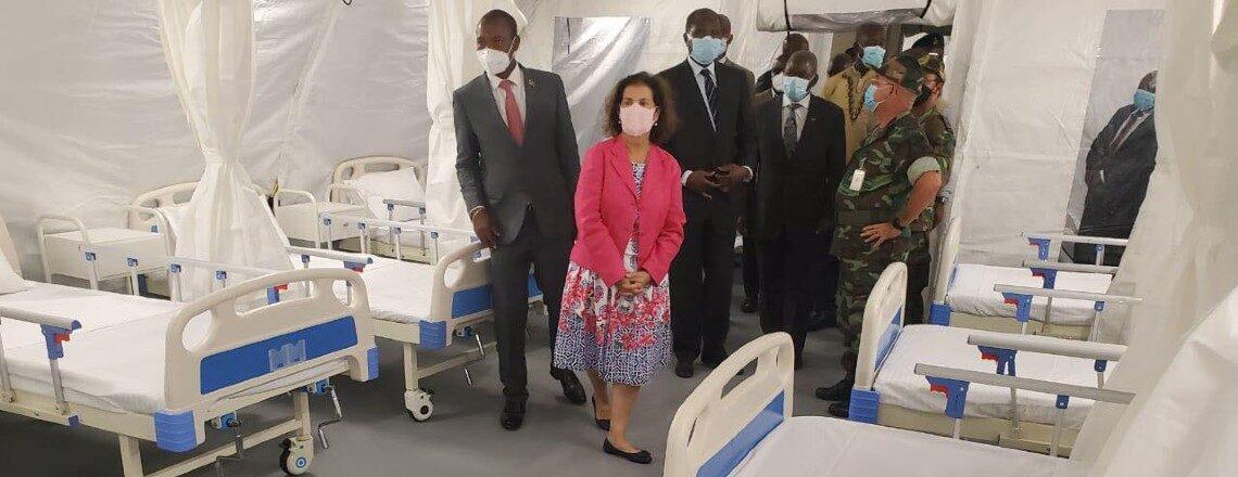 U.S.A Entregam a Angola hospital de campanha para tratamento de doentes Covid-19