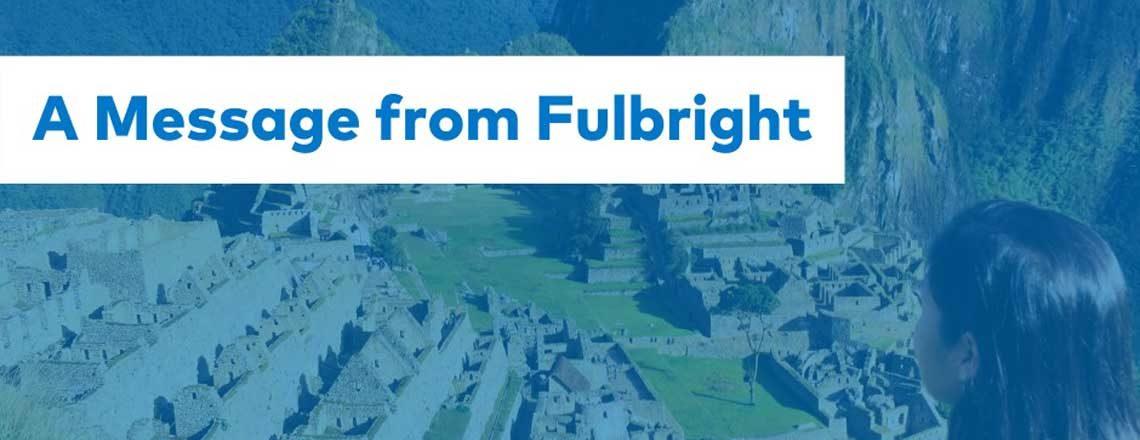 Informamos que devido ao covid-19 o calendário do programa Fulbright sofrerá alterações