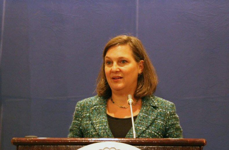 Assistant Secretary Victoria Nuland Speaking to the press in Ukraine - Archive photo