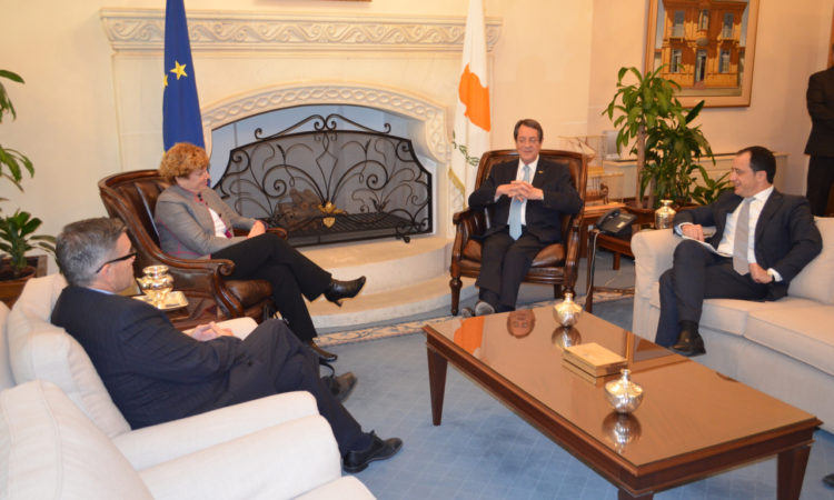 Ambassador Doherty with President Anastasiades