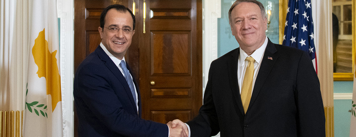 Secretary Pompeo's Meeting with Republic of Cyprus Foreign Minister Nikos Christodoulides